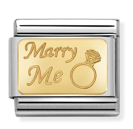 "Blaszka ""Marry Me"" Gold"