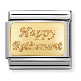 "Blaszka ""Happy Retirement"" Gold"