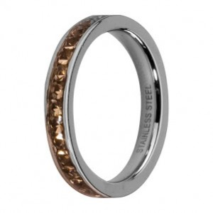Obrączka Side Rings srebrna Black Diamond
