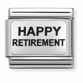 "Blaszka ""Happy Retirement"" Silver"