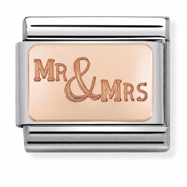 "Blaszka ""Mr & Mrs"" Rose Gold"