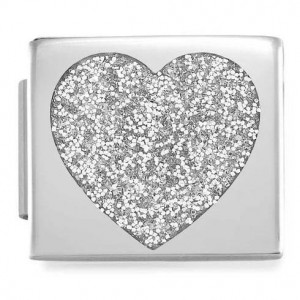 Composable Glam Serce Glitter Silver