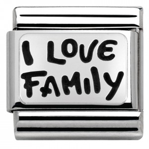 "Napis "" I LOVE FAMILY"" Silver"