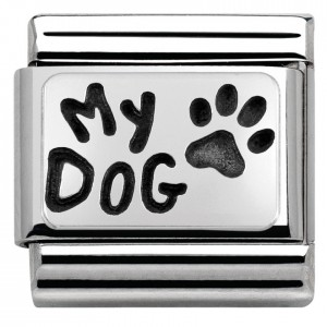 "Napis ""My dog"" Silver"