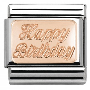 Blaszka Happy Birthday  Rose Gold