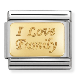 "Blaszka ""I Love Family"" Gold"