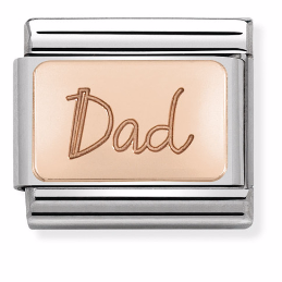 "Blaszka ""Dad"" Rose Gold"