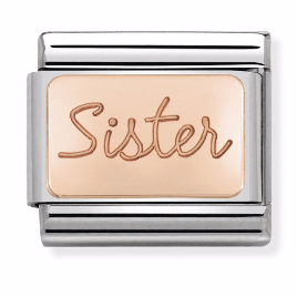 "Blaszka ""Sister"" Rose Gold"