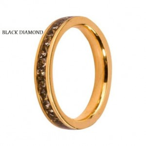 Obrączka Side Rings złota Black Diamond