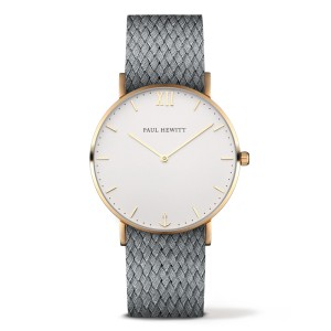Zegarek PAUL HEWITT Sailor Gold White Sand Perlon Strap Grey