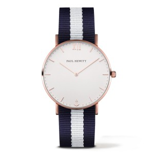 Zegarek PAUL HEWITT Sailor Rose Gold White Sand Navy Blue/White