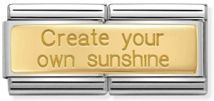 "Podwójny link ""Create your own sunshine"" Gold"