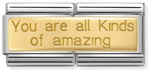 "Podwójny link ""You are all Kinds of amazing"" Gold"