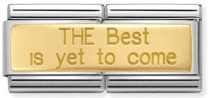 "Podwójny link ""THE Best is yet to come"" Gold"