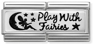 "Podwójny link ""Play With Fairies"" Silver"