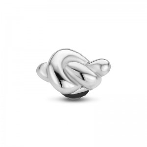 Oczko Twisted KNOT srebrne