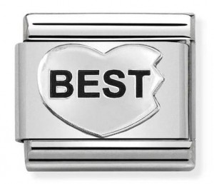 BEST FRIENDS serce 1/3 Silver