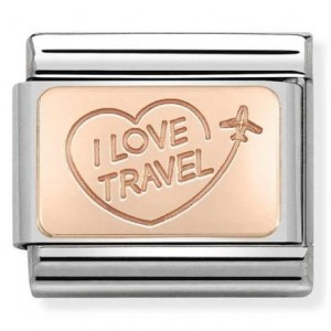 I LOVE TRAVEL Rose Gold