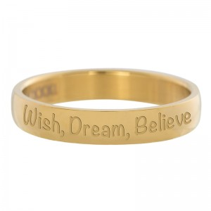 Ring iXXXi Wish Dream Believe złoty
