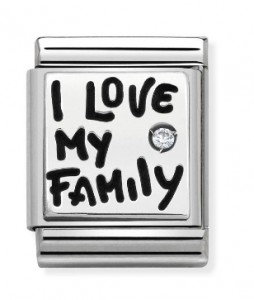 "Napis "" I Love My Family"" SILVER BIG"