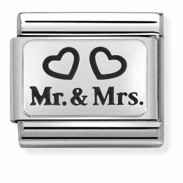 "Blaszka""Mr & Mrs""  Silver"
