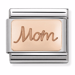 "Blaszka ""Mom"" Rose Gold"