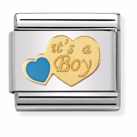 "Serce ""It's a Boy"" Gold"