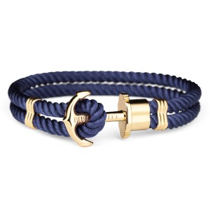 Bransoletka PAUL HEWITT Phrep Gold Navy Blue