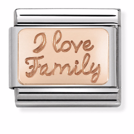 "Blaszka ""I Love Family"" Rose Gold"
